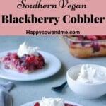 Southern Vegan Blackberry Cobbler