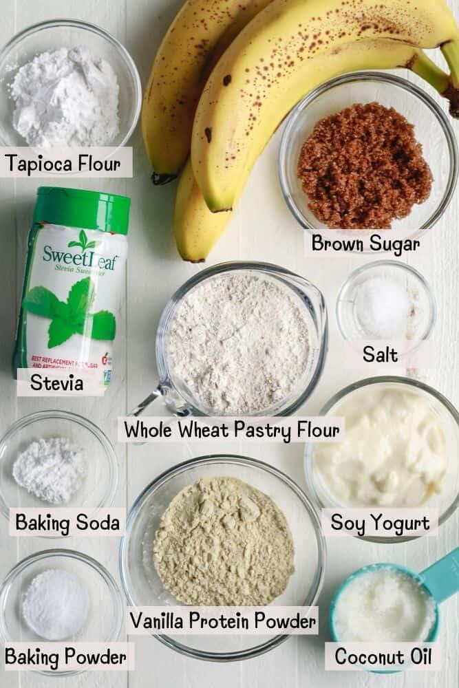 Vanilla Protein Banana Bread Ingredients