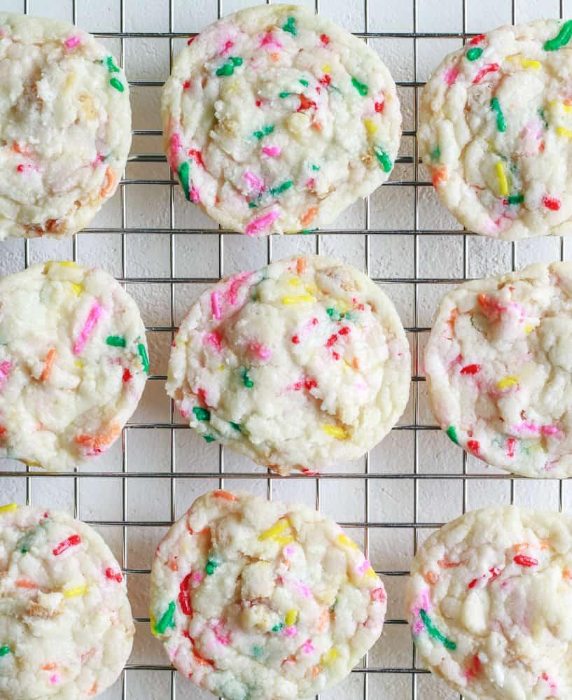 Vegan Cake Batter Oreo Cookies
