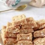 white chocolate macadamia nut blondies (vegan)