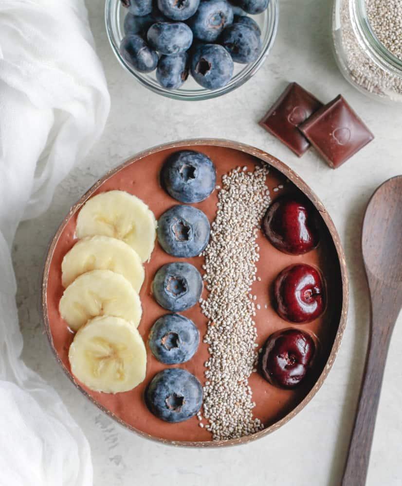 vegan chocolate chia oat pudding