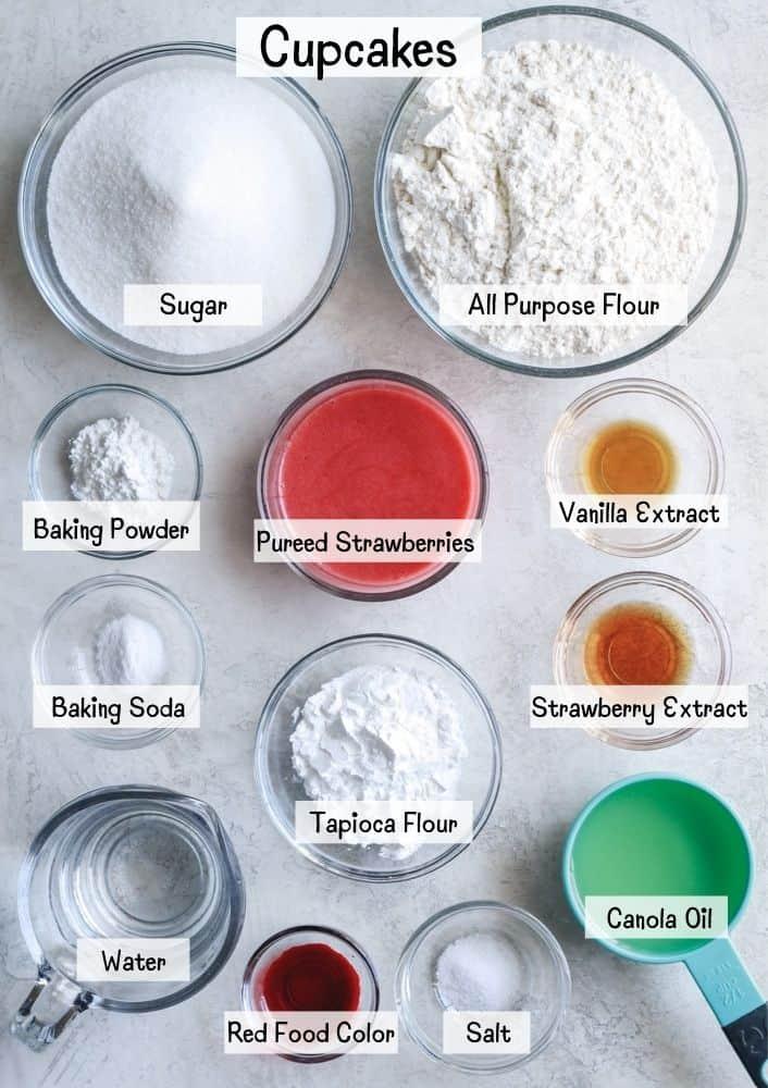 strawberry cupcakes ingredients