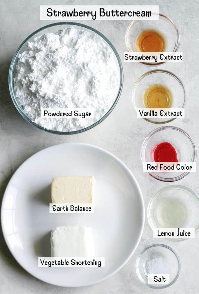 strawberry buttercream ingredients