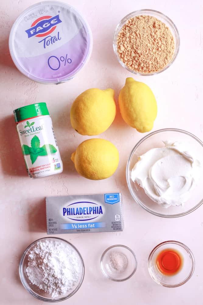 lemon cheesecake mousse ingredients