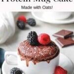 Double Chocolate Protein Mug Cake