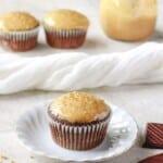 chocolate quinoa cupcakes with peanut butter glaze