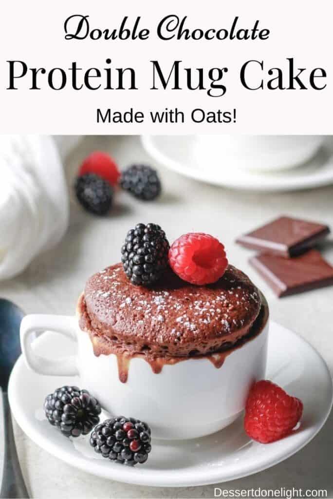 Double chocolate protein mug cake (made with oats)