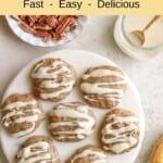 Vegan Banana Bread Cookies with Maple Glaze